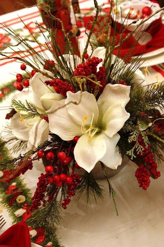 Christmas centerpiece Flower Ideas Pinterest Christmas
