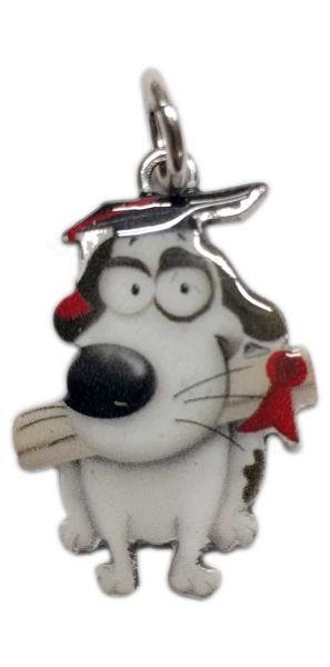 Ciondolo cagnolino laureando