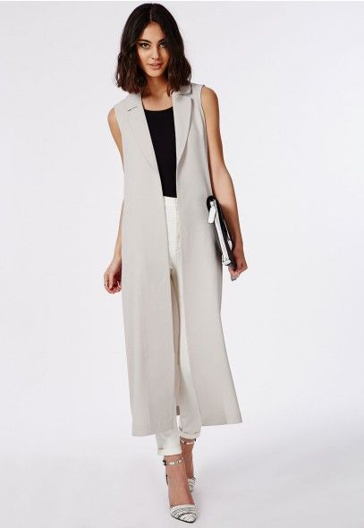 3dc7c4ba820ff Maxi Sleeveless Duster Coat Grey - Blazers - Missguided | So me luv ...