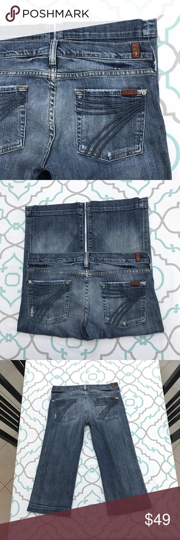 Awesome 7fam Dojo Crops 30 9 10 Distressed Leggings Are Not Pants Premium Denim Clothes Design