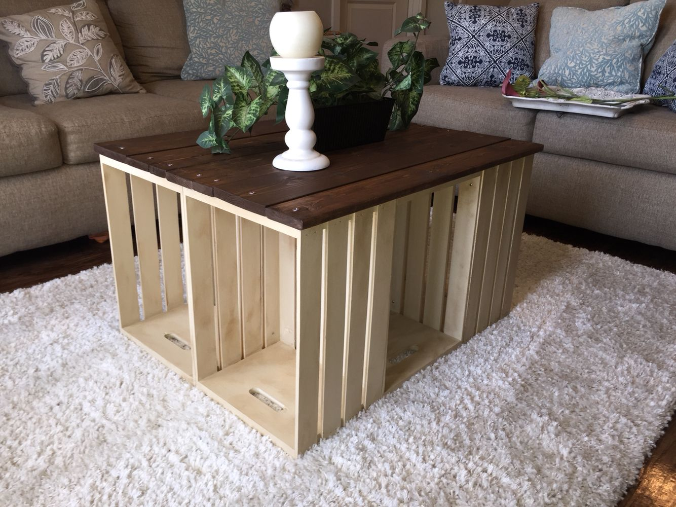 Country french crate coffee table dream home pinterest country french crate coffee table geotapseo Gallery