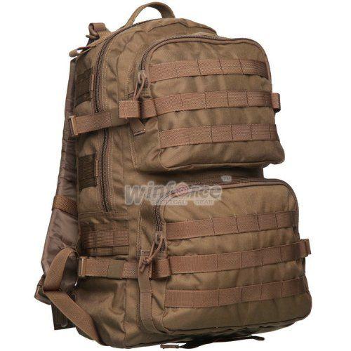 Winforce SWAT Patrol Pack Military Tactical Molle Backpack Camping Hiking Trekking Bag (Coyote)