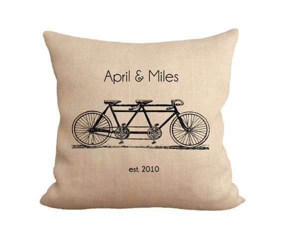 Tandem Monogram Pillow by tossbyfiberandwater on Etsy, $45.00 for the bedroom, living room, kitchen, deck, porch, outdoor pillow #tandem #pillow #homedecor #wedding