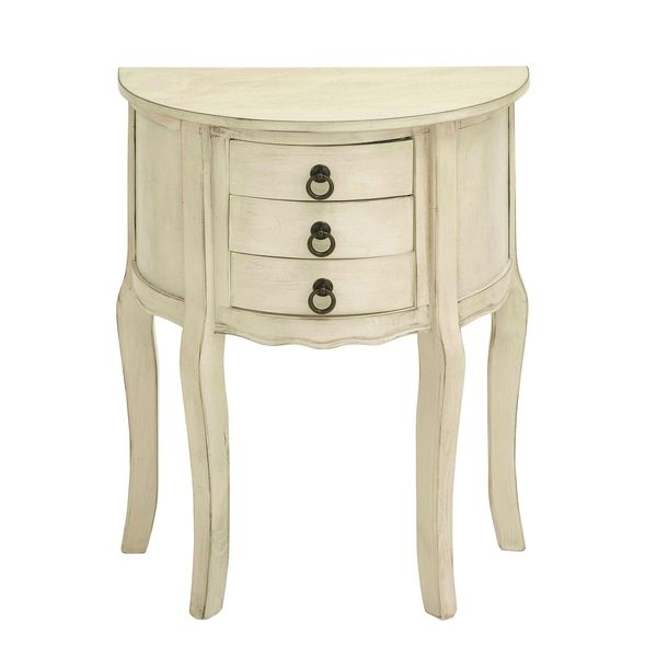 Wood Night Stand In Off White Shade And Smooth Finish Bedroom
