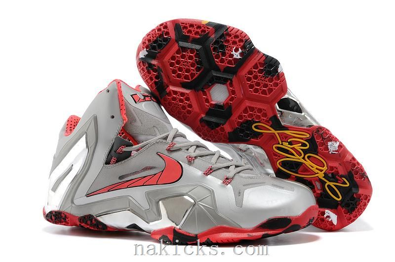 low priced 9d2fc ad3c7 Nike LeBron 11 Elite Team Wolf Grey Crimson-Cool Grey-Black For Sale