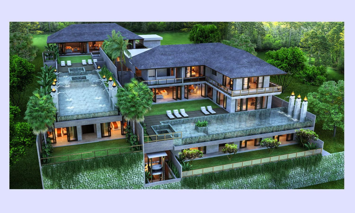modern luxury tropical villas design  Google Search  V