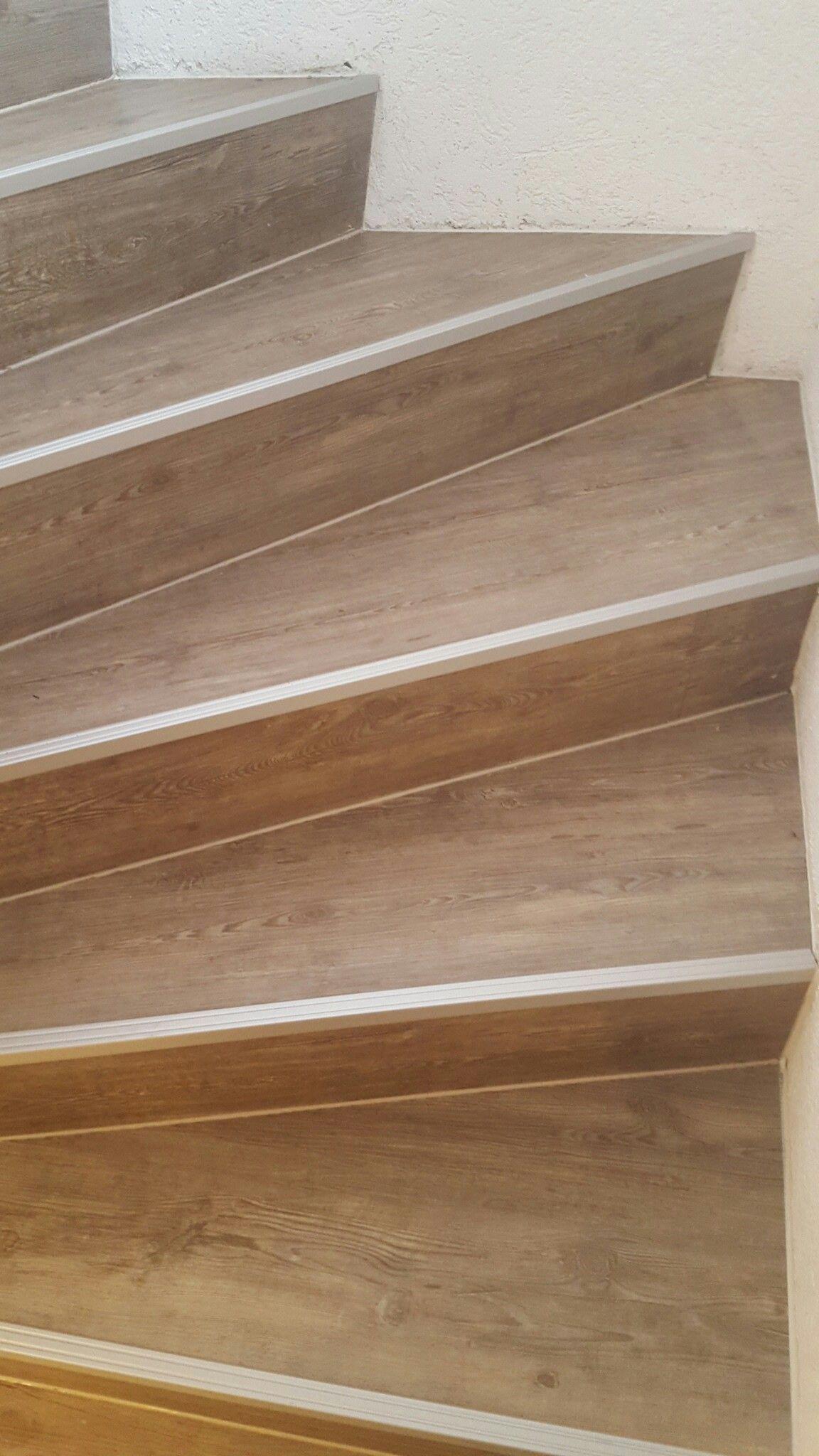 nachher (mit laminat belegt) | treppe sanieren mit laminat | pinterest