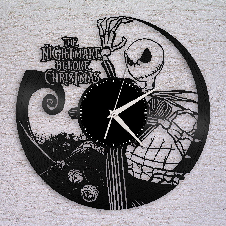 Wall Clock, Nightmare Before Christmas Clock, Jack Skellington ...