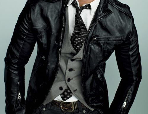 Jacket, $700, vest, $165, and jeans, $220, by William Rast. Shirt ...