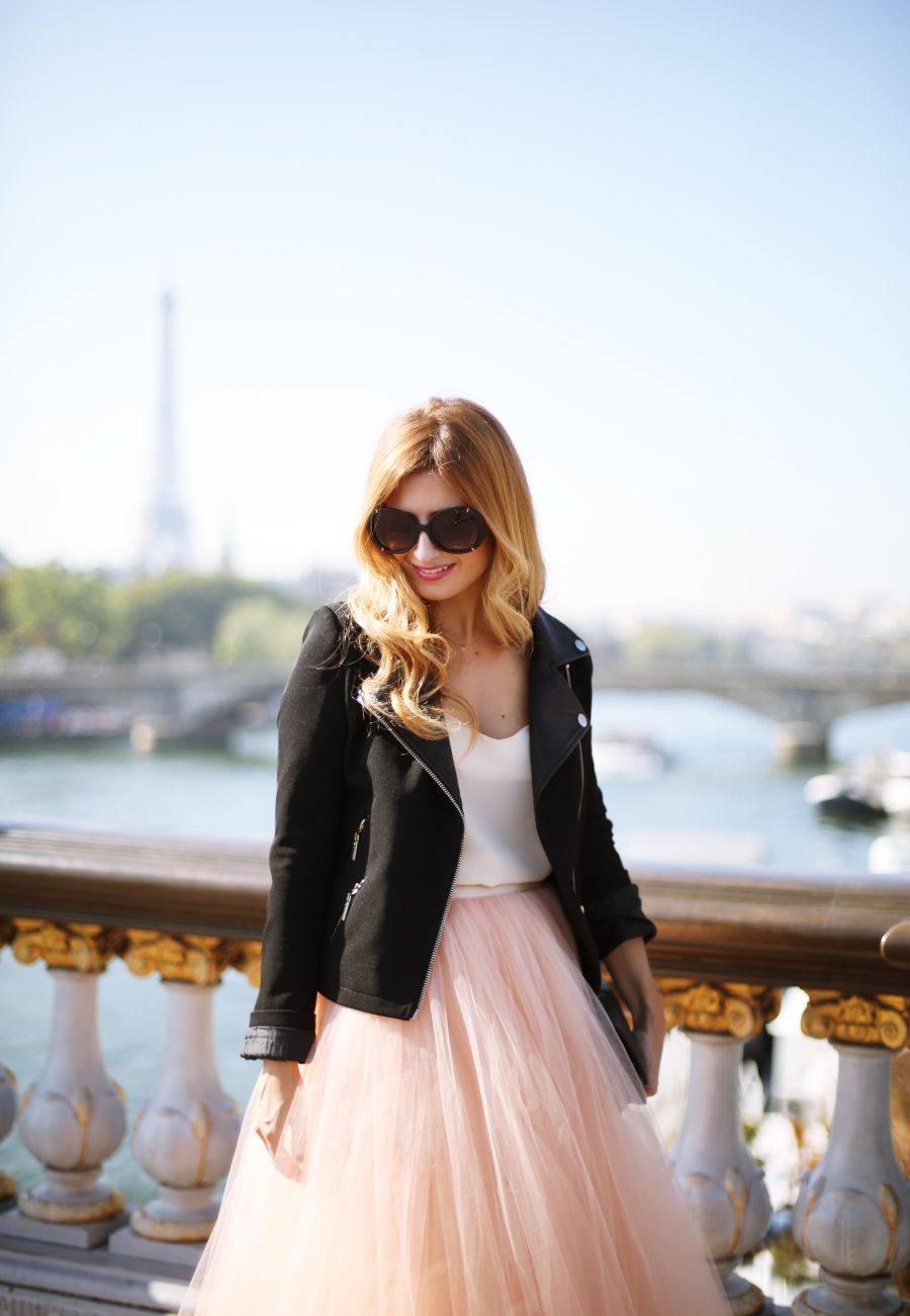 A TRENDY LIFE: PONT ALEXANDRE III PARIS & TUL SKIRT