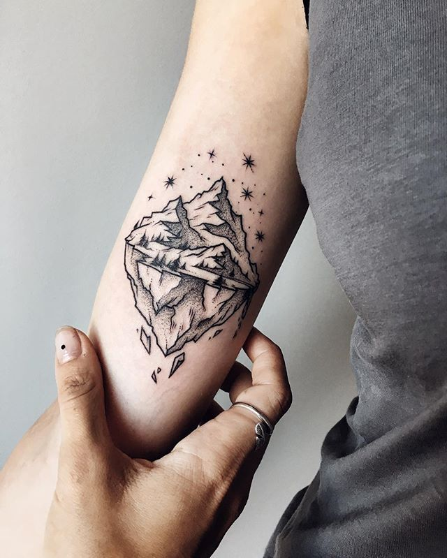 The Cutest First Tattoo Of The Floating Island For