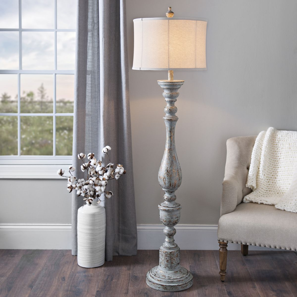 Distressed eloise floor lamp with images floor lamps
