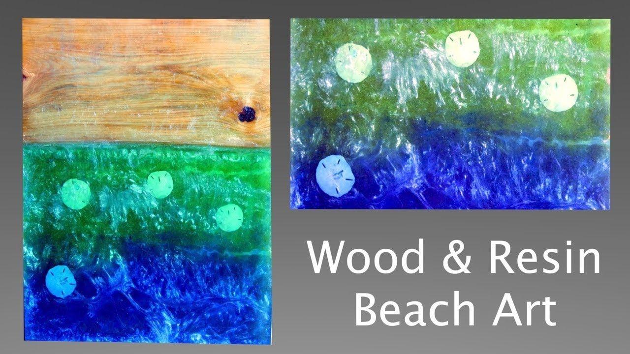 Wood And Resin Beach Art Scene 3d Seascape Real Sand
