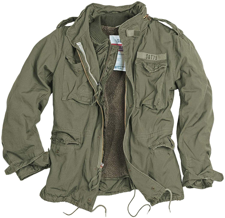 delta giant herren m65 regiment jacke, schwarz, größe s