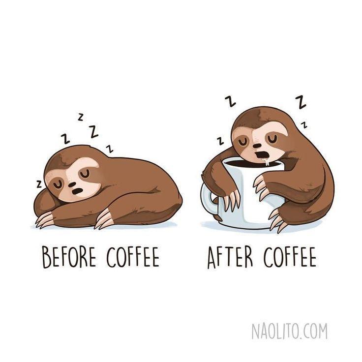 Relatable Illustrationen von niedlichen Tieren in lustigen vor und nach situatio #comicsandcartoons