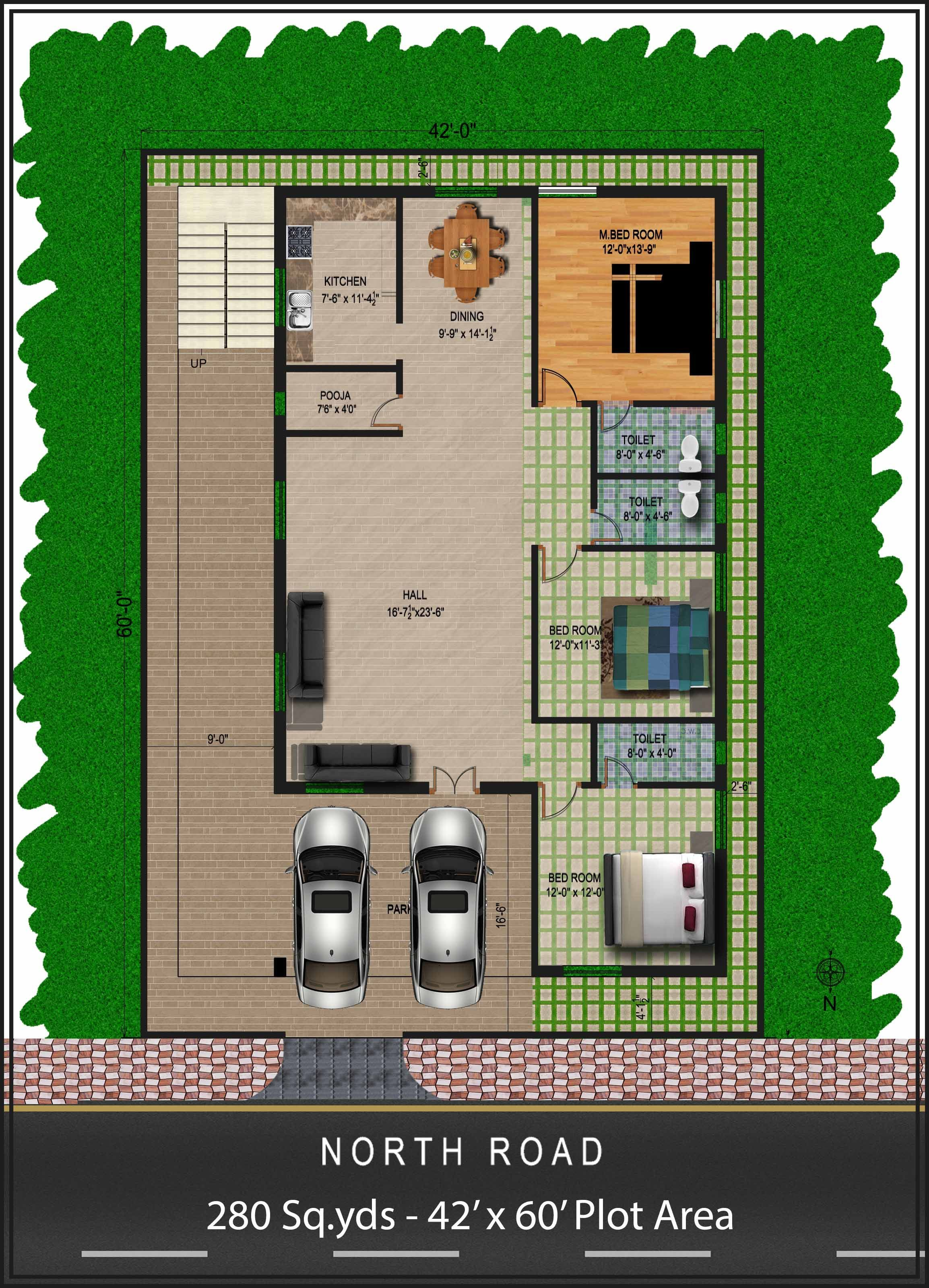 30x40 2 Bedroom House Plans Plans For East Facing Plot Vastu North Facing House 2bhk House Plan One Level House Plans