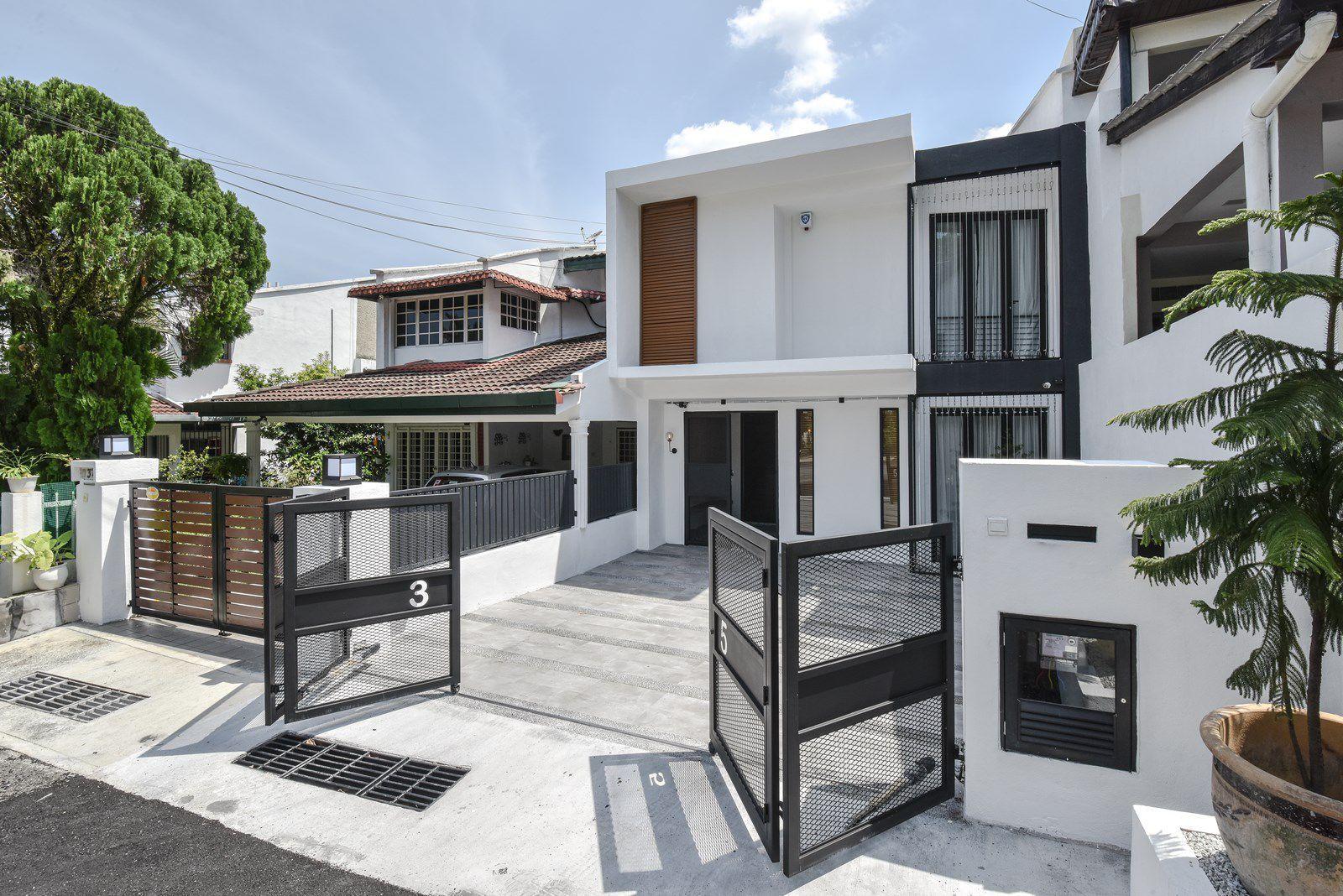 Modern Terrace House Exterior Stands