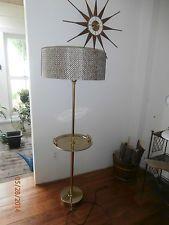 Vintage Mid Century Br Stiffel Floor Lamp Tray Mad Men Gerald Thurston Shade