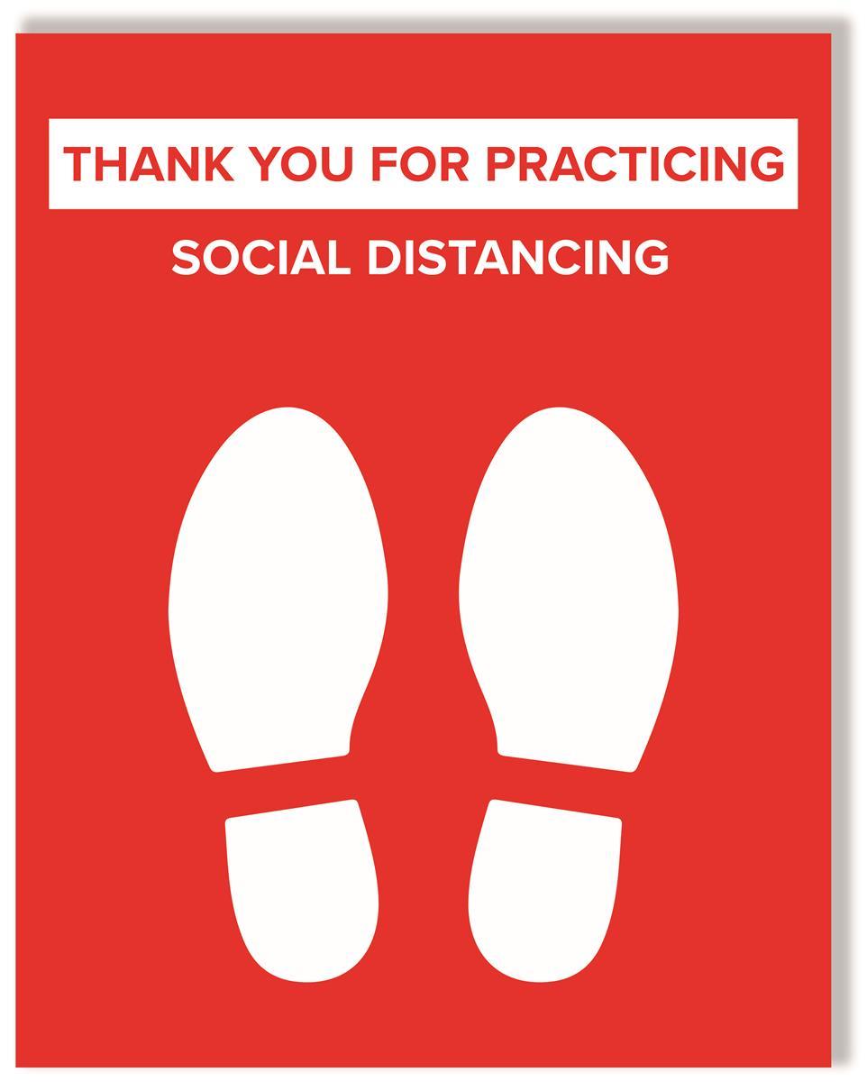6 Feet Social Distancing Sign Premium Photo Paper Signage Social Personal Marketing