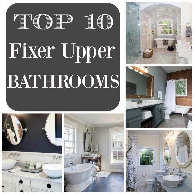 Top 10 Fixer Upper Bathrooms Via Restoration Redoux