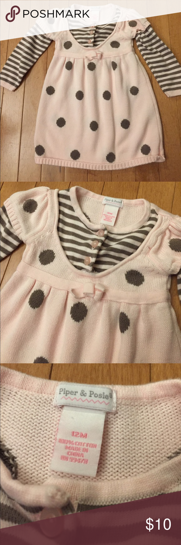 2a9e0be197d6 Piper   Posie 12 Month Pink Sweater Dress Excellent Condition! Size ...