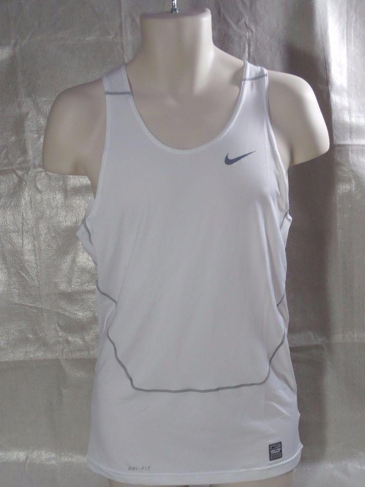 f4eefc49 NIKE pro combat PERFORMANCE DRI FIT white compression tank top men's SIZE  XL #Nike #ShirtsTops