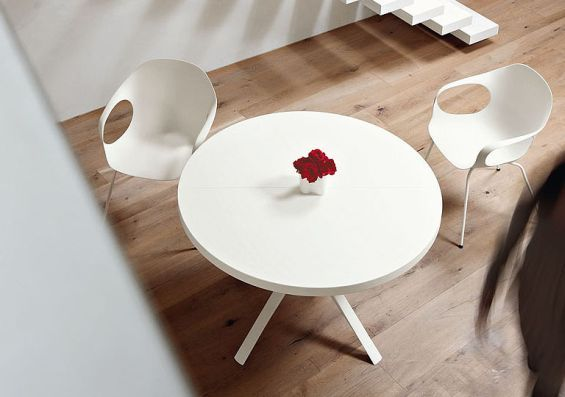 Ronde uitschuifbare tafel woonkeuken pinterest eettafel
