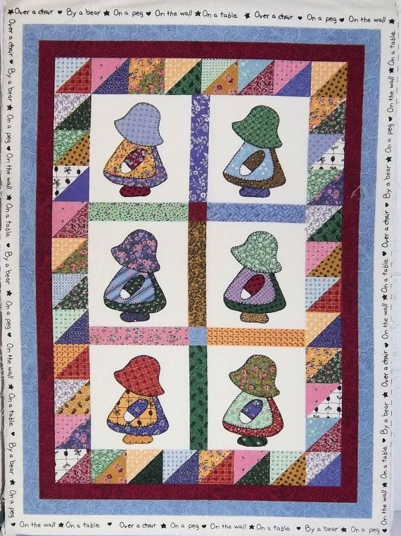 SUNBONNET PATCH Quilt Crafts Covering Home Deco Curtain Fabric 100/% Cotton