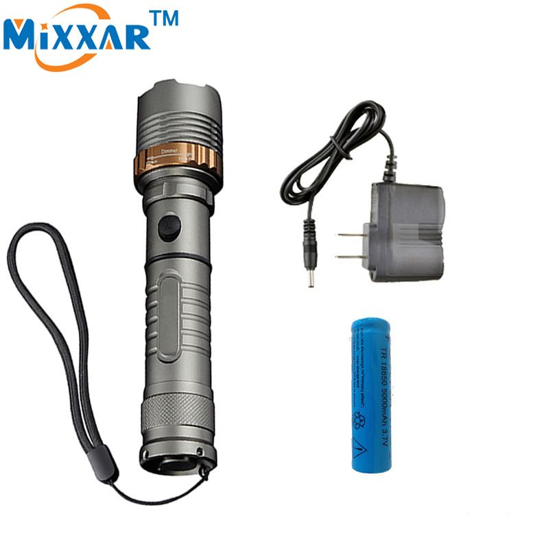 Zk30 Cree Xm L T6 Led Rechargeable Flashlight 4000lm Self Defense Torch Lamps Lantern T Rechargeable Led Flashlight Tactical Flashlight Rechargeable Flashlight