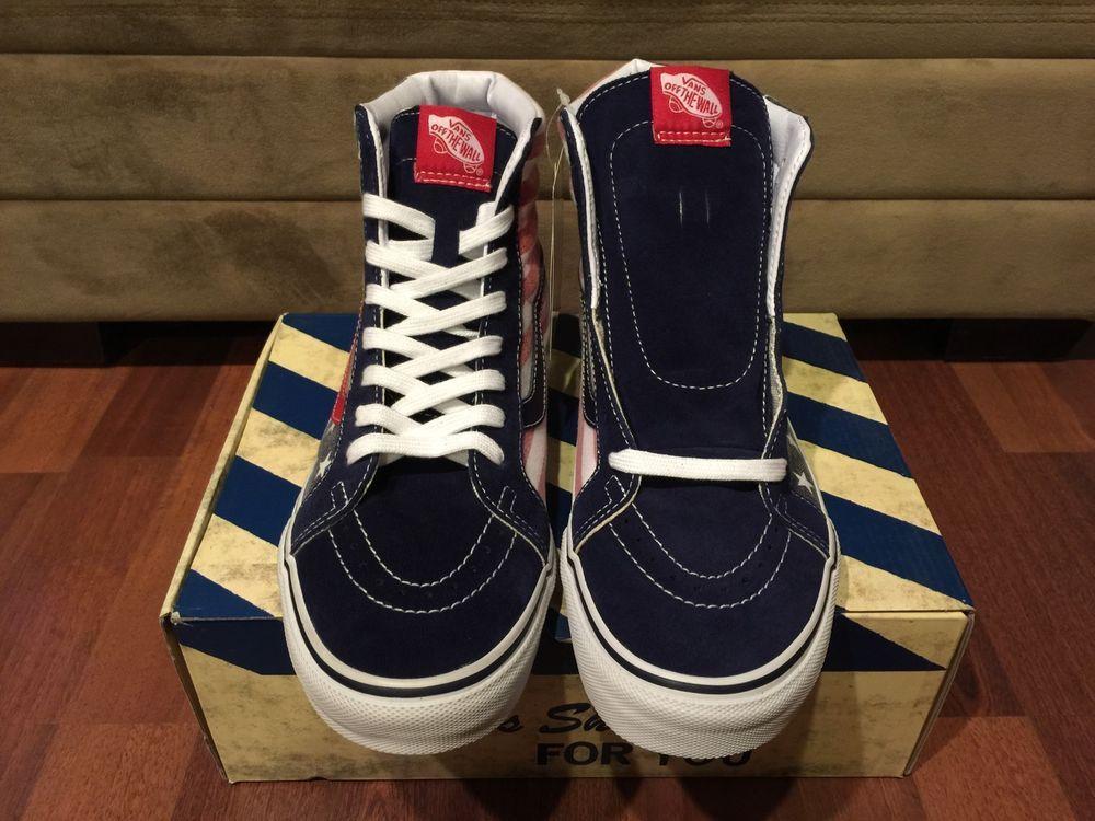 50b8d079602cb7 Vans Van Doren SK8 Hi Reissue Stars and Stripes Size 11 Red White Blue  Authentic  VANS  Skateboarding
