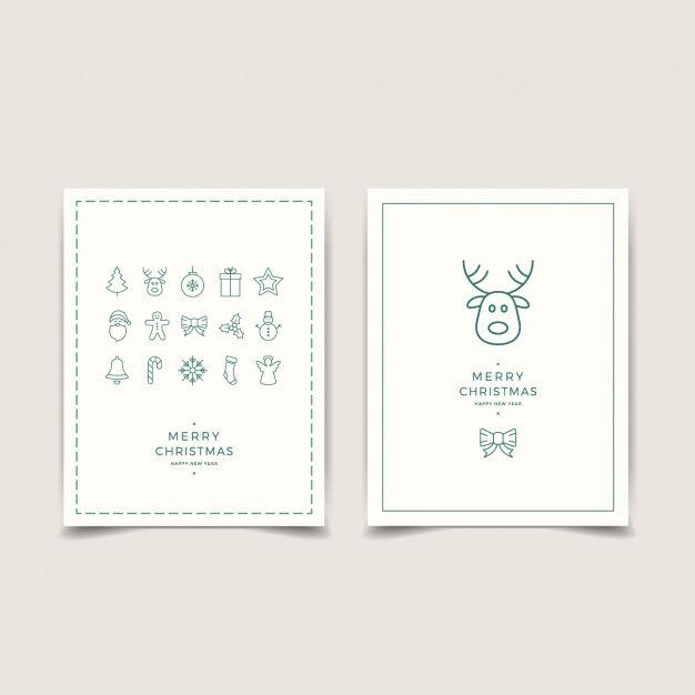 Download Minimalist Cards With Christmas Decoration For Free Minimalist Cards Minimalist Christmas Card Christmas Card Design