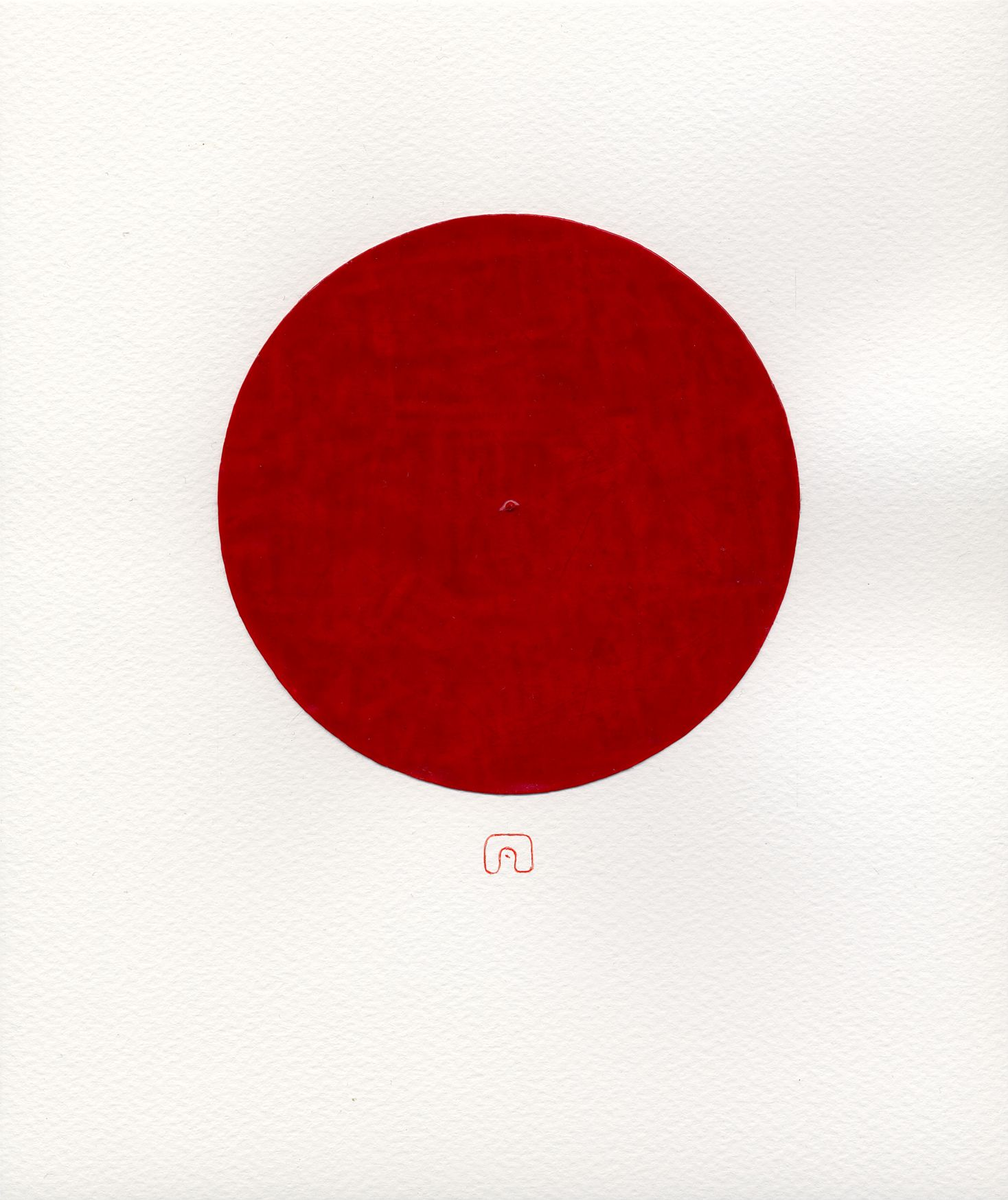Red Circle D120 N 07 21 X 25 Cm Art By Slavomir Zombek Tantra Art Zen Art Art Inspiration