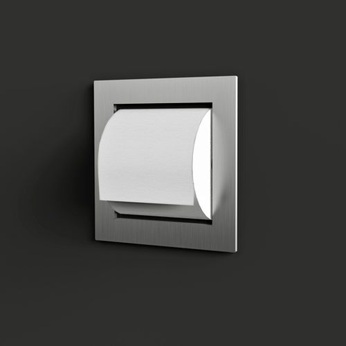 Toilet Paper Dispenser Recessed Neutra Accessori Por01
