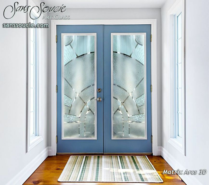 Matrix Arcs 3d Entry Glass Doors Double Entry Doors Frosted