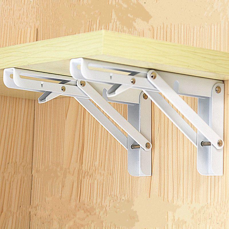 2pcs! Foldable metal triangular bracket folding 90 degree telescopic ...