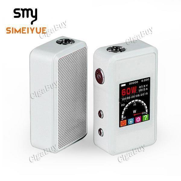$55.55 - Authentic SMY 60TC SIMEIYUE 60W VW Temp Control APV Mod - White - Cigabuy