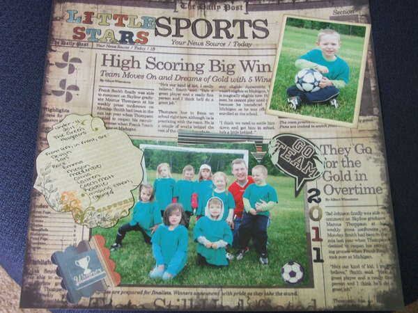 sports scrapbook page ideas