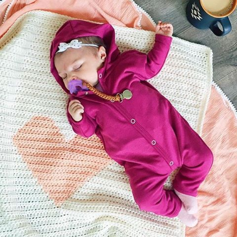 @erinwakeman's littlest love is so sweet in our Raspberry Hoodie Jumper!!
