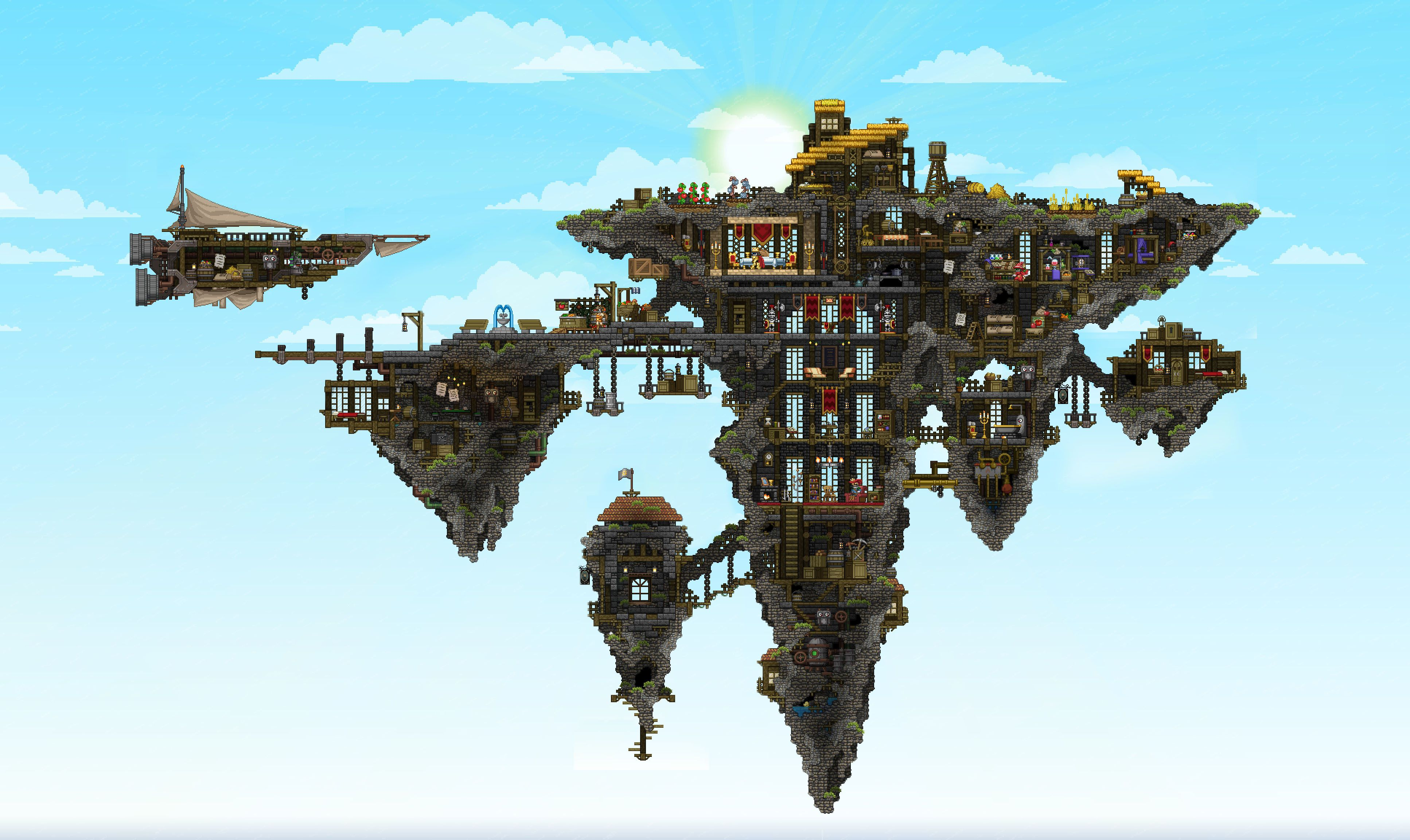 Stormcrown Keep by shark Starbound A Terraria in