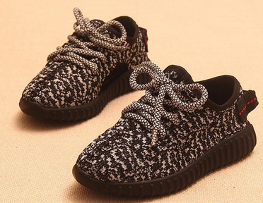 These Yeezy Boost-inspired kids sneakers look just like the real thing.
