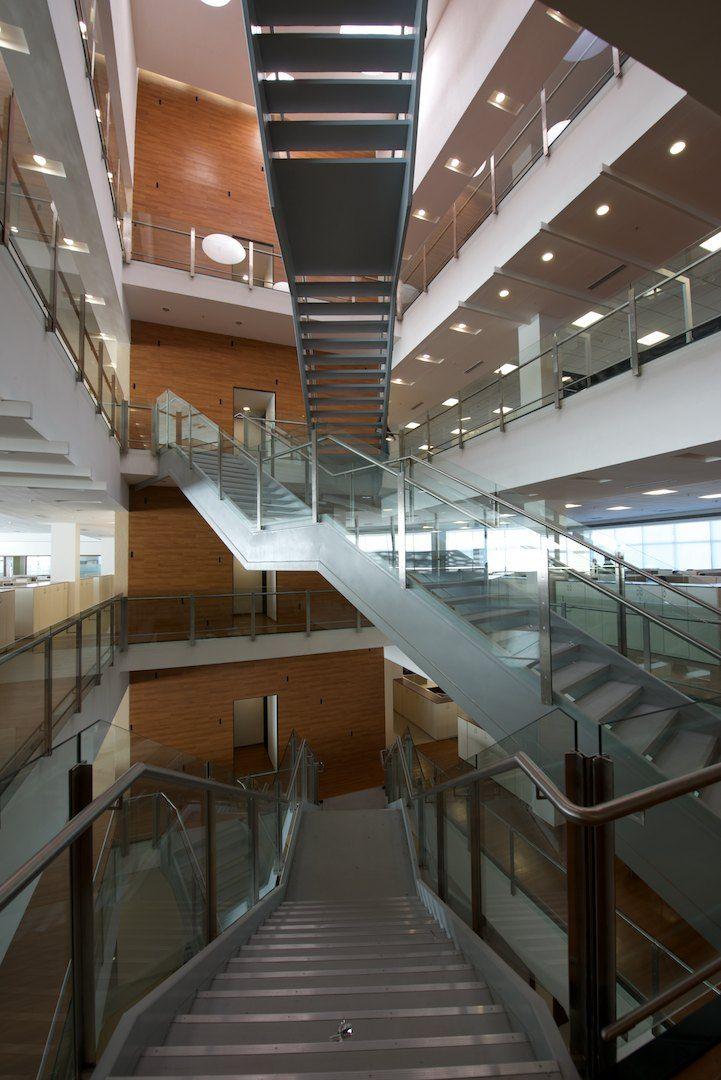 Office Staircase I Thermax, Pune I Architect  Kapadia Associates, Mumbai