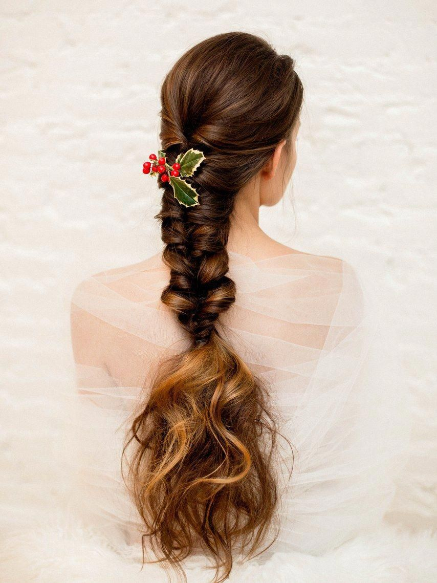 Braided hairstyles to wear at your winter wedding wedding