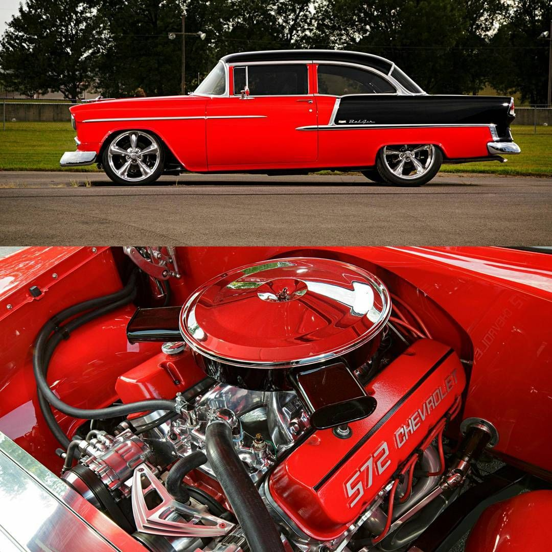 Stunning 55 Chevy built by Thunder Valley Customs. Riding