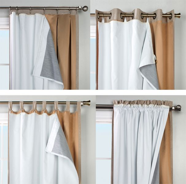 Thermalogic Ultimate Blackout Insulated Curtain Liner Cortinas