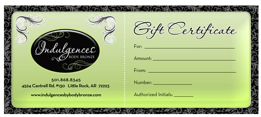 spa GIft Certificate Design Beauticontrol business ideas - gift certificate samples