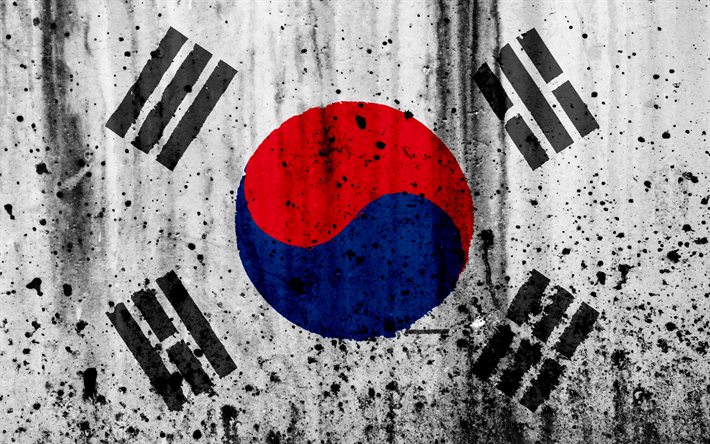 Download Wallpapers South Korea Flag 4k Grunge Flag Of South Korea Asia South Korea National Symbols South Korea National Flag Besthqwallpapers Com South Korea Flag South Korea Korea