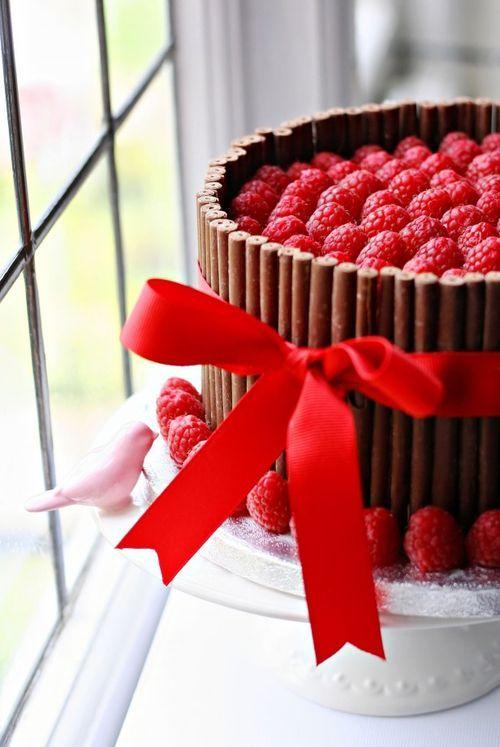 Chocolate Cake With Cigarillos & Raspberries ...intrepidbaker