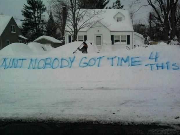 Funny Meme Ain T Nobody Got Time For That Winter Humor Snow