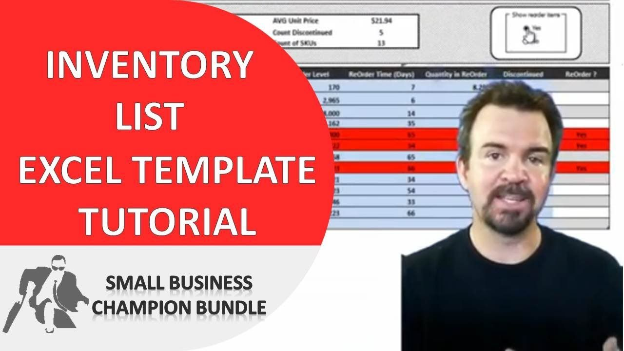 Inventory Spreadsheet Template  Excel Product Tracking  Excel