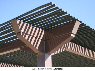 Trellis with Latilla-Style Lattice Roof Santa Fe (SFE) by Poligon